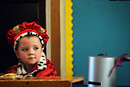 A boy is dressed as a king for his nativity play