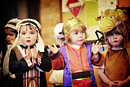 Children perform a song in their nursery nativity play