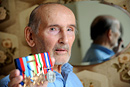 Portrait of a war veteran with his medals