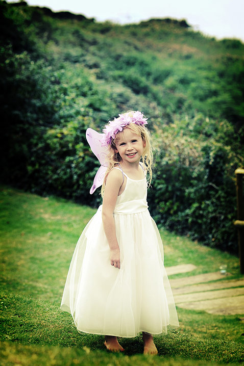 The beautiful fairy bridesmaid