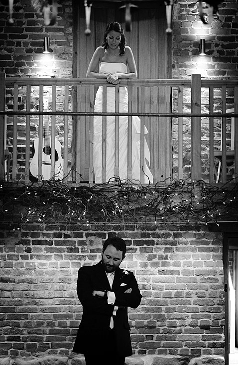 Clockwatching groom