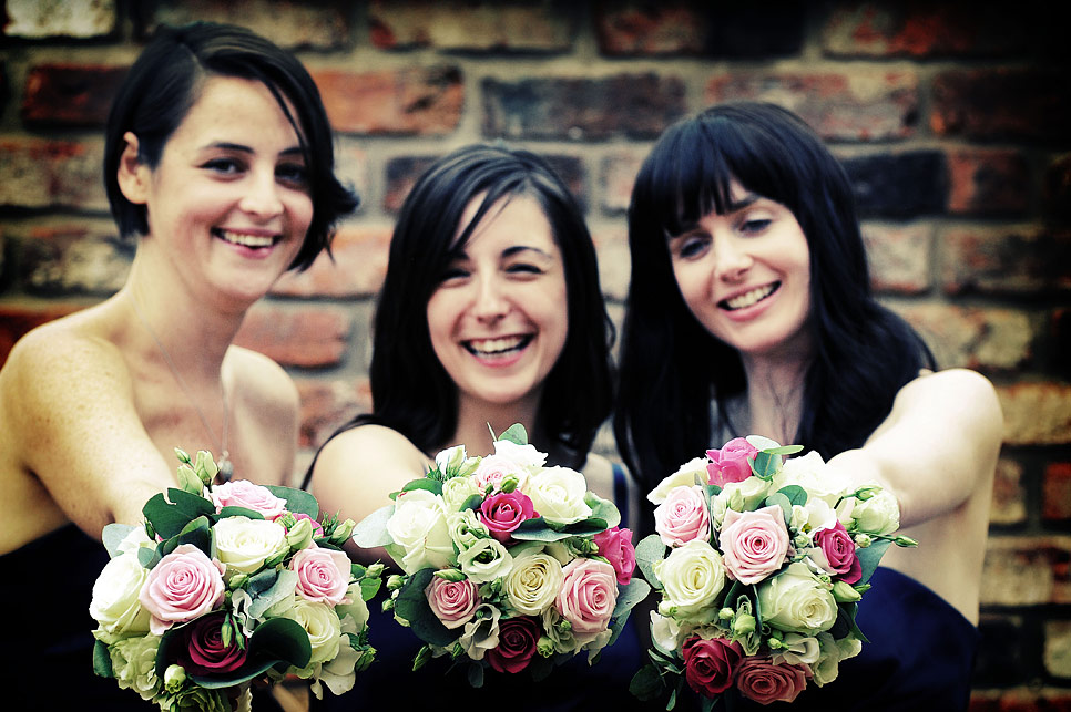 Beautiful bridesmaids with beautiful flowers